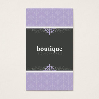 BUSINESS CARD stylish fleur de lis
