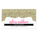 BUSINESS CARD stylish glitter sparkle gold pink