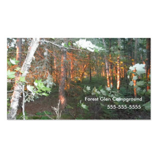 business card sunset woods,