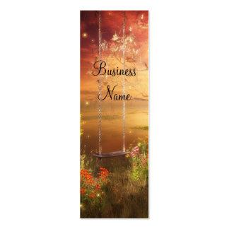 Business Card Swing Fireflies Woodlands Skinny Business Cards