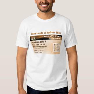 Business Card T-shirt with QR code