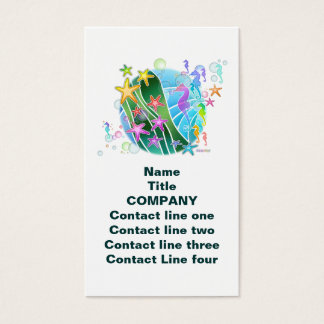 Business Card, Tag - Under The Sea Pop Art