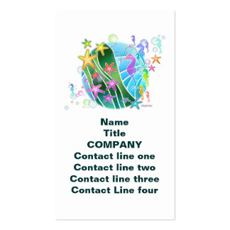 Business Card, Tag - Under The Sea Pop Art Business Card