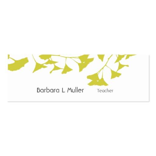 Business Card | Teachers  | Nature Ginkgo