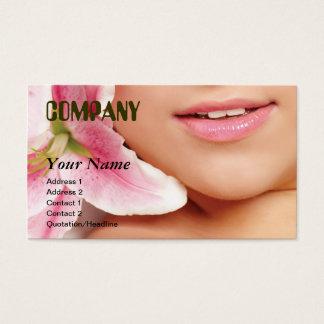 business card template beauty