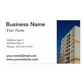 Business Card Template Block of Flats