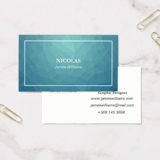 Business card template. Blue Polygon Name card.