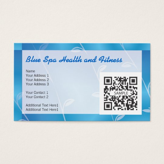 Business Card Template Blue Spa
