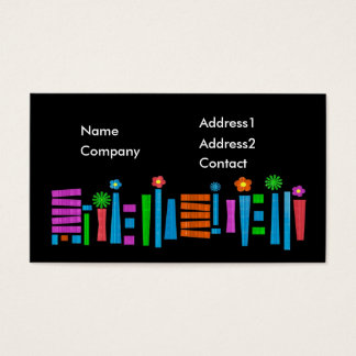 Business card Template - brightly colored design
