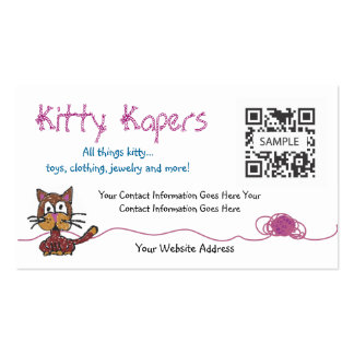 Business Card Template Cats
