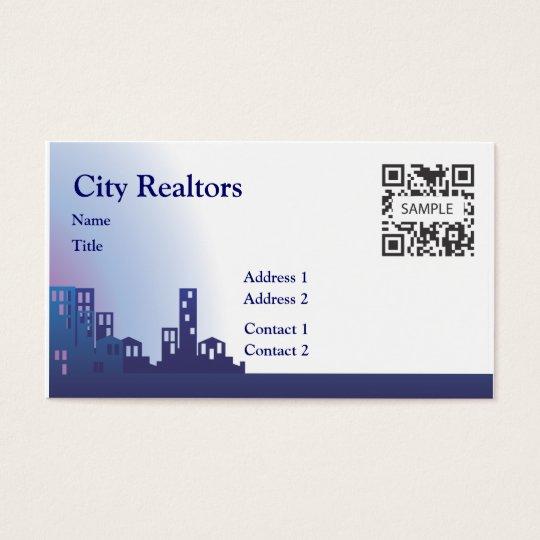 Business Card Template City Realtors