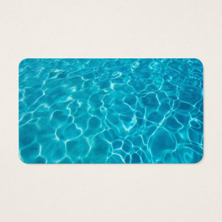 business card template cool blue water photo art