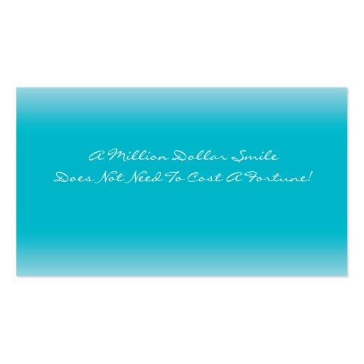 Business Card Template Dental Care (back side)