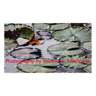 """Business Card Template Design-""""Lily on the Water"""""""