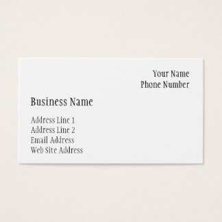 Business Card Template (Eggshell Finish)