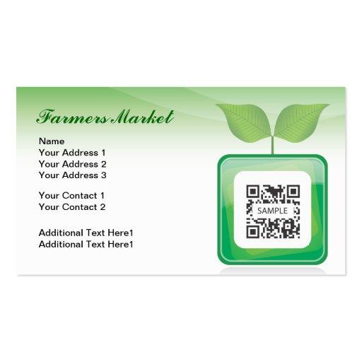 Business Card Template Farmer's Market