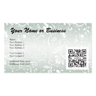 Business Card Template Floral Generic