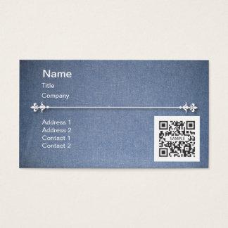 Business Card Template Generic Blue Denim