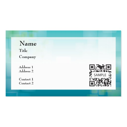 Business card template generic blue green zazzle for Generic business cards