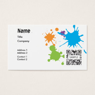 Paint drip business cards templates zazzle business card template generic paint splatter cheaphphosting Images