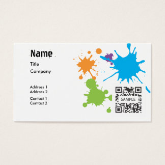 Business Card Template Generic Paint Splatter