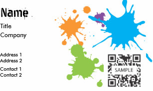 Generic business cards zazzle business card template generic paint splatter cheaphphosting Images