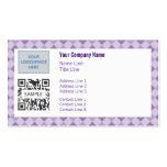 Business Card Template Generic Purple Argyle 2