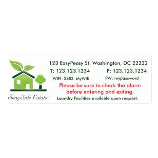 Business Card Template Green