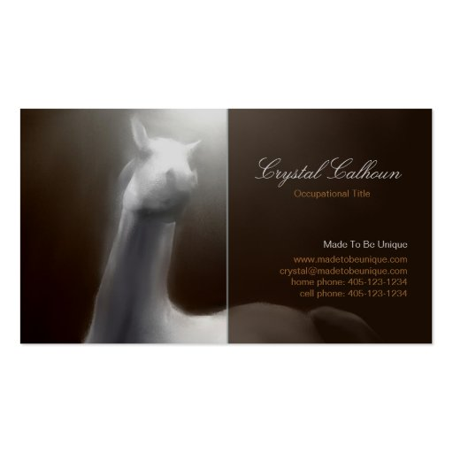 Business Card Template - Horse Painting Dark