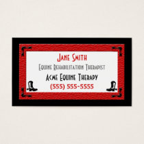 Business Card Template Horse Related Business