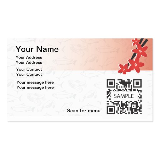 Business card template japanese restaurant zazzle for Zazzle business card