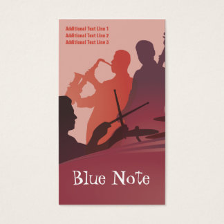 Business Card Template Jazz Band