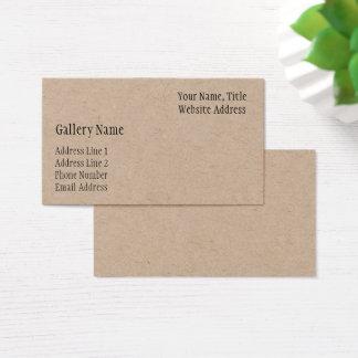 Business Card Template (Kraft Finish)