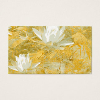 business card template lotus flower collage art