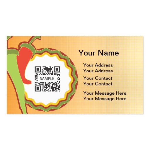Business Card Template Mexican Restaurant