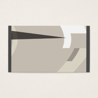 business card template mid century modern style