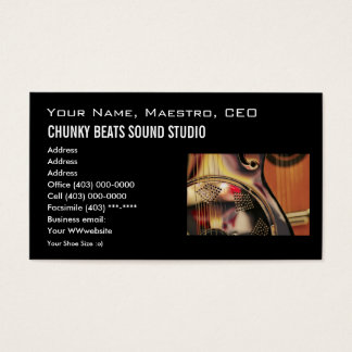 Business Card template, Music industry
