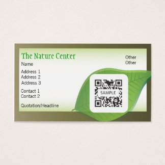 Business Card Template Nature Center