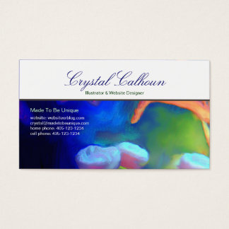 Business Card Template - Ocean water life painting