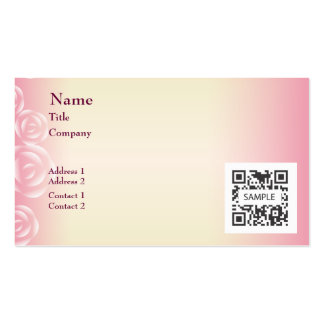 Business Card Template Pink Rose