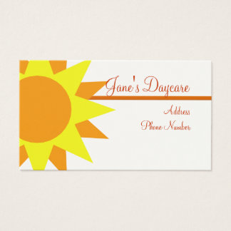 Business Card Template **Rays of Sunshine