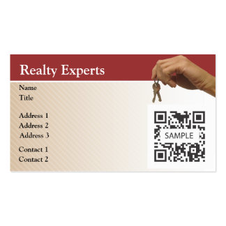 Business Card Template Realty Experts