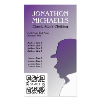 Business Card Template Retail Men's Clothing