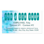 Business Card Template Side - Under The Sea Art