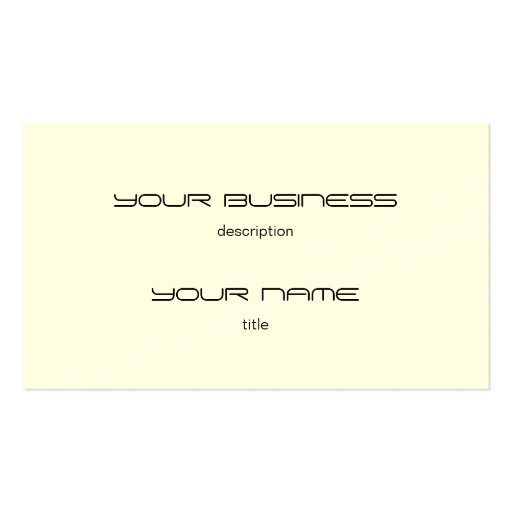 business card template standard paper cream zazzle. Black Bedroom Furniture Sets. Home Design Ideas