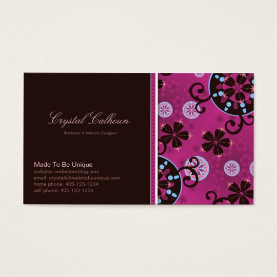 Business Card Template - Whimsical / Fun