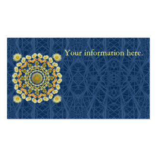 Business Card Template with Barrel Cactus Mandala