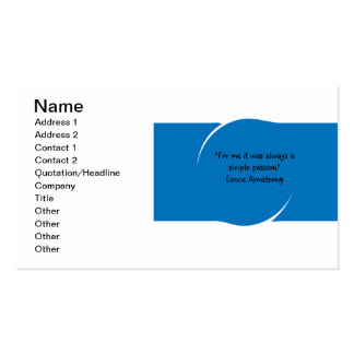 Business Card template with Lance Armstrong quote