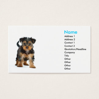 business card template Yorkshire terrier
