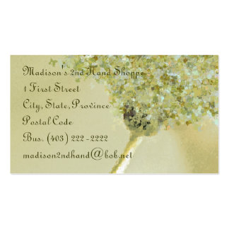 Business Card TemplateButterfly Daisy Sage Green